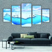 """Модульна картина """"Озеро взимку"""""""