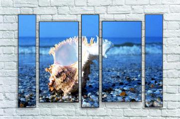 """Модульна картина """"Морське узбережжя"""""""