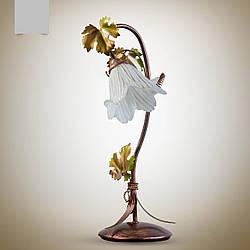 Настільна лампа в стилі флористика 8006