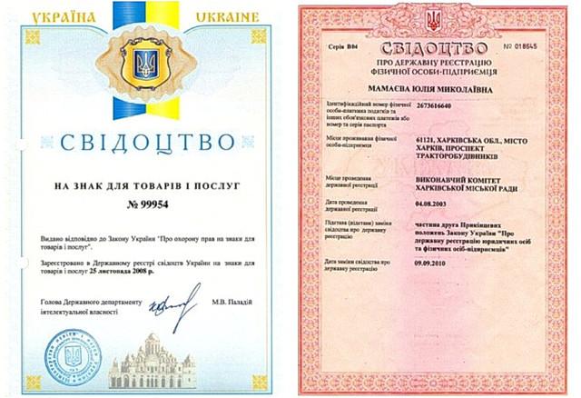Документы о государственной регистрации компании teens.ua