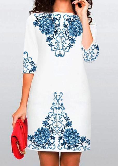 d68cd0035fbfd2 Купити Заготовки плаття з рукавами для вишивки бісером або нитками.  Найприємніші ціни і найкраща якість від