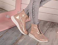 Ботинки визон стайл золото натуральная кожа код 19469, фото 1