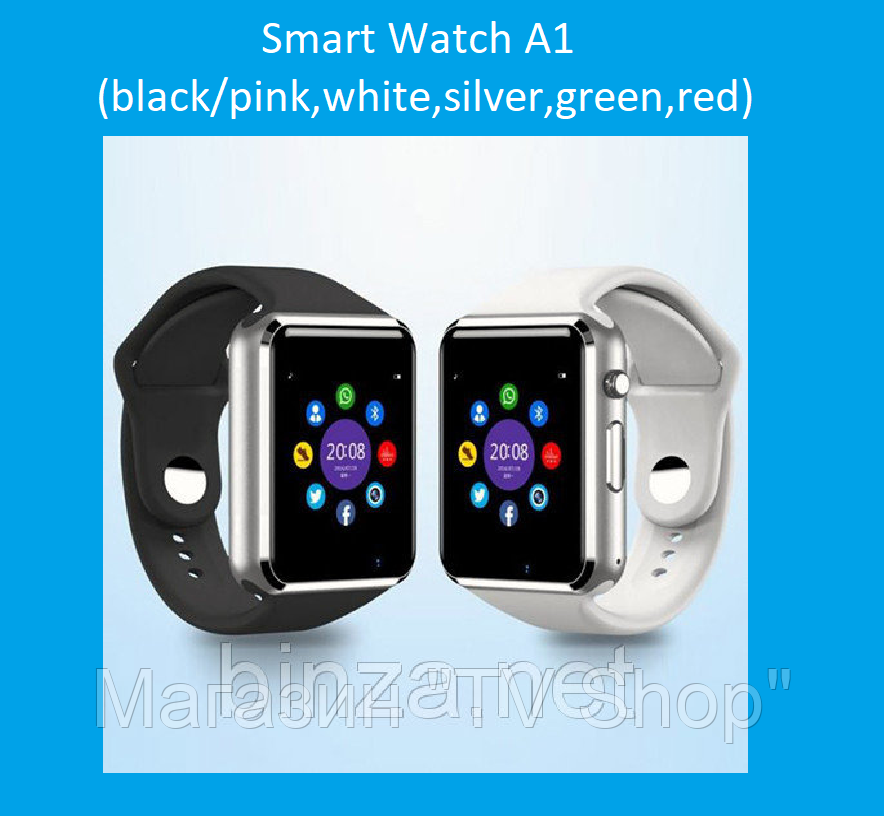 Смарт часы Smart Watch A1 (black pink 19755aabf71ee