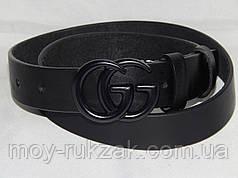 Ремень женский кожаный GUCCI ширина 35 мм, реплика 930528