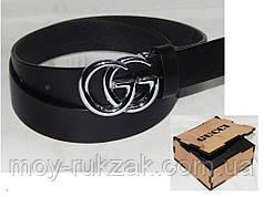 Ремень женский кожаный в коробке GUCCI ширина 35 мм, реплика 930527