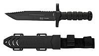 Нож армейский охотничий тактический Columbia USA Спецназ 1338A +пластиковый чехол