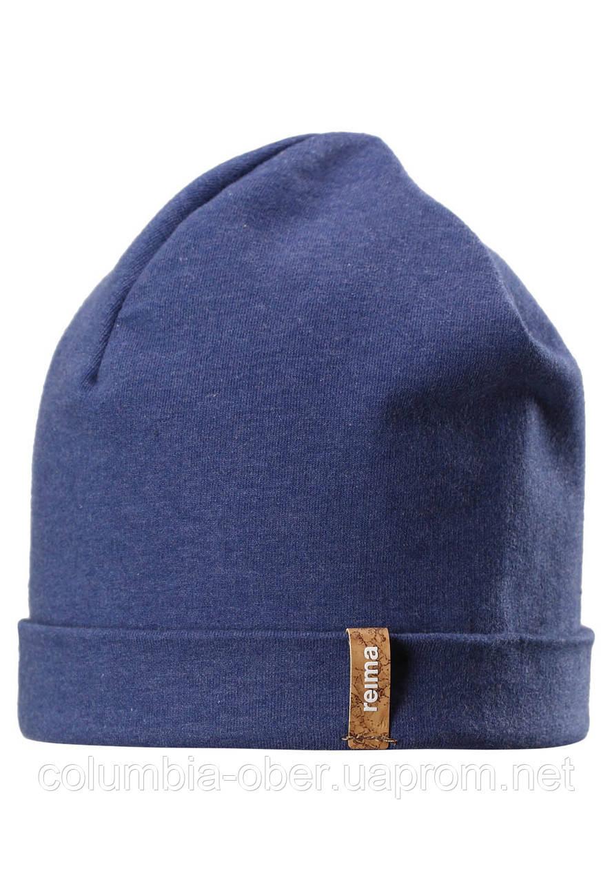 Демисезонная шапка бини для мальчика Reima Liuku 528573-6840. Размер 56/58.