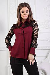 Блузка женская с ажурным гипюром