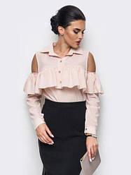 Женская элегантная блуза с классическим воротником