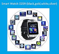 Смарт часы Smart Watch DZ09 (black,gold,white,silver)!Опт