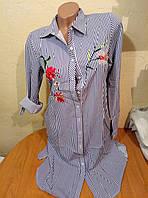 Женская молодежная тонкая рубашка туника