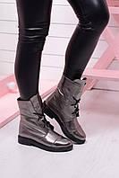 Ботинки зимние серебристые натуральная кожа код 19036, фото 1