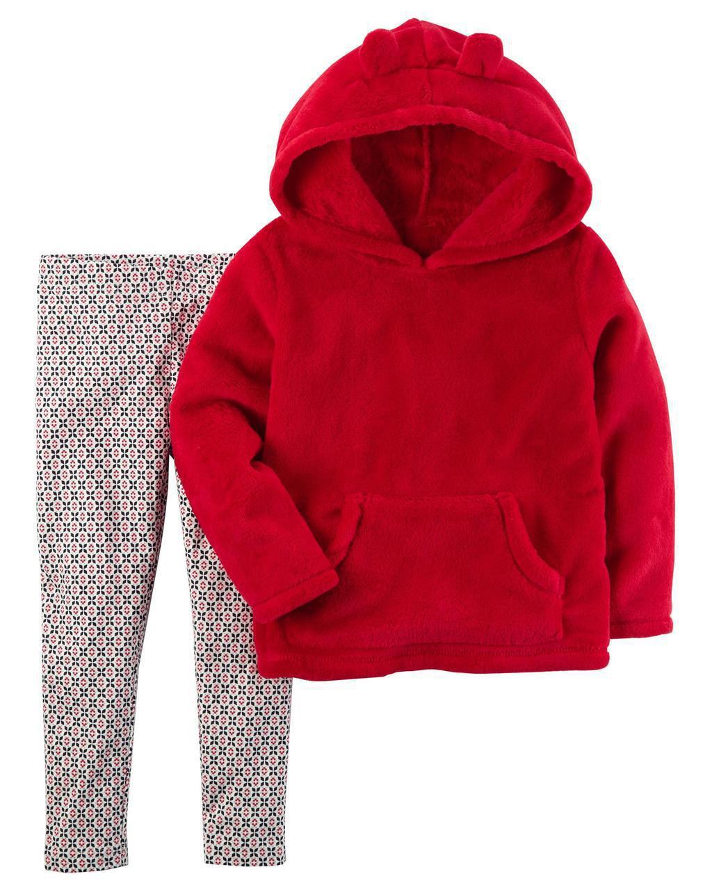 Леггинсы + Теплый пуловер Carters для девочки 12 мес 72-78 см. Набор из 2-х частей