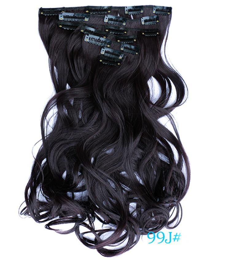 Накладні локони волосся 7 пасм на кліпсах,шиньйон,тресс довжина 50 см