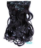 Накладні локони волосся 7 пасм на кліпсах,шиньйон,тресс довжина 50 см, фото 1