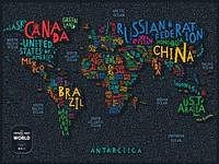Скретч мапа Світу Travel Map LETTERS World (англ) (тубус), фото 1