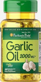 Здоров'я серця і серцево-судинної системи Puritan's Pride Garlic Oil 1000 mg 100 Rapid Release Softgels, фото 2