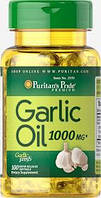 Здоровье сердца и сердечно-сосудистой системы Puritan's Pride Garlic Oil 1000 mg 100 Rapid Release Softgels