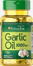 Здоров'я серця і серцево-судинної системи Puritan's Pride Garlic Oil 1000 mg 100 Rapid Release Softgels