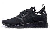 Модные Мужские кроссовки брендовые Adidas NMD Runner with Black Boost