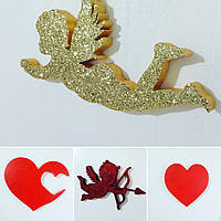 Сердце - декор на день валентина и свадьбу из пенопласта. Идеи для фотозоны