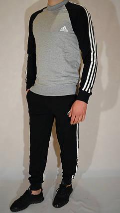 Подростковый спортивный костюм Adidas из трикотажа (реглан и брюки на манжете) - разные цвета, фото 2