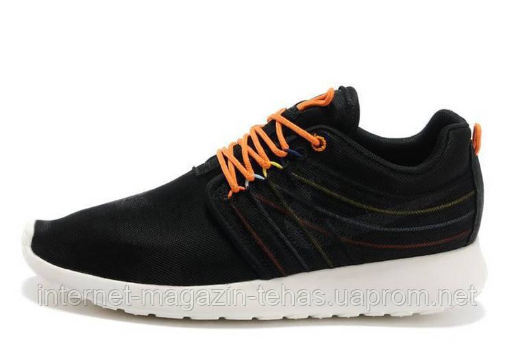 a07151fb0691 Модные Мужские кроссовки брендовые Nike Roshe Run II Black Orange Knit -  Интернет-магазин