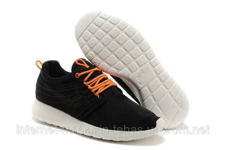 7ac5be83d081 Модные Мужские кроссовки брендовые Nike Roshe Run II Black Orange Knit,  фото 2