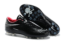 Кроссовки футбольные Nike HyperVenom [black\pink\skull]