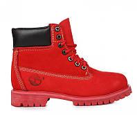 Красивые женские ботинки Timberland 6 inch Ruby Red W