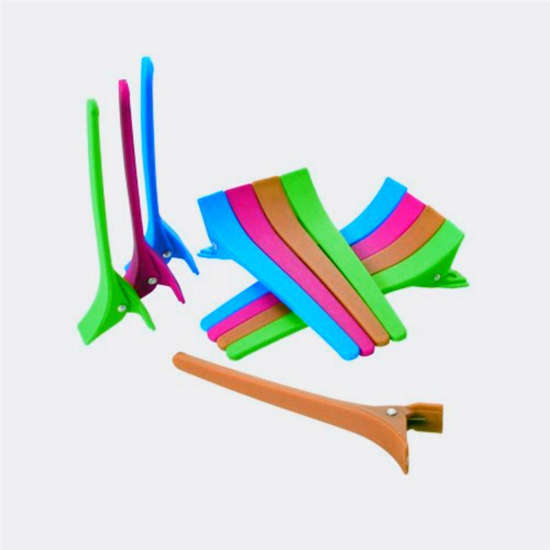 Зажим пластиковый цветной для волос 12 шт YRE