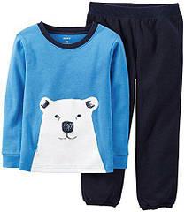 Пижама Белый медвежонок  Брюки микрофлис, верх хлопок Carters (США) (Размер 2Т)
