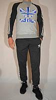 Спортивный костюм для подростка Adidas Originals из трикотажа (свитшот и брюки на манжете)