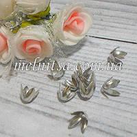 """Обниматели-концевики """"Тюльпанчик"""", 8 мм, 10 шт., цвет серебро"""