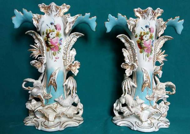 Фарфоровые вазы  первая пол.ХХ-го века Австрия, фото 2
