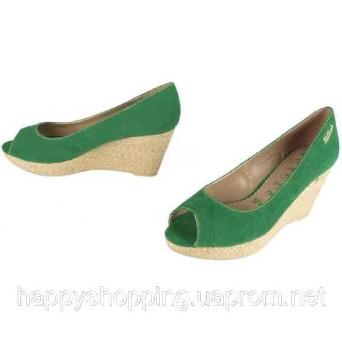 Зеленые  босоножки Killah