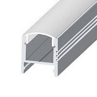 Профиль ЛПС17 алюминиевый накладной светодиодный для подсветки LED (ТИС)
