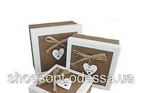 Подарочные коробки Love набор 3шт 19х19х9 см