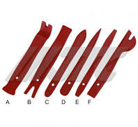 Комплект съемников для демонтажа панелей облицовки 6 ед. JTC 5625 JTC