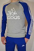 Спортивный костюм для подростка Adidas (свитшот и брюки на манжете) - трикотаж, разные цвета