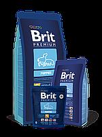 Корм Brit Premium Брит Премиум Puppies для щенков всех пород и кормящих сук, 15 кг