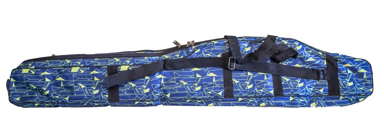 Чехол для удочки дубок с карманом под катушку Feima | Blue Pixel | 130см, фото 2