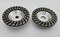 Фреза алмазная торцевая двух рядная турбо волна для шлифовки гранита, бетона 100x20x6,5x2RxM14/22№00 крупное