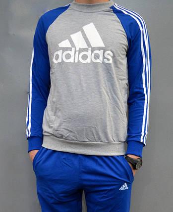 Спортивный костюм подростковый Adidas (реглан и брюки на манжете) - трикотаж, разные цвета, фото 2