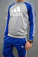 Спортивный костюм подростковый Adidas (реглан и брюки на манжете) - трикотаж, разные цвета
