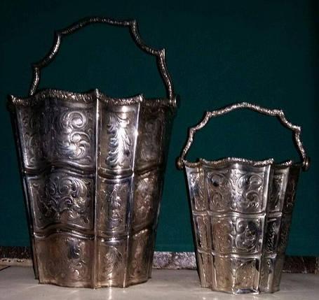Ведёрко для шампанского и льда серебро нач.ХХ-го века Австро-Венгрия, фото 2