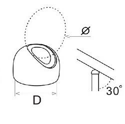 Наконечник угловой под трубу Ø 42,4 мм