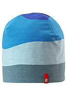 Демисезонная шапка бини для мальчика Reima Tanssi 528583-6641. Размеры 48-58.