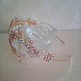 Диадема в восточном стиле, тика под золото с жемчугом и подвесным кулоном, корона, тиара, высота 6 см., фото 3
