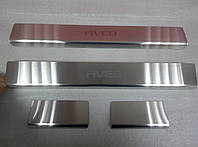 Накладки на пороги Chevrolet Aveo III 4D / 5D 2011- 4шт. Standart